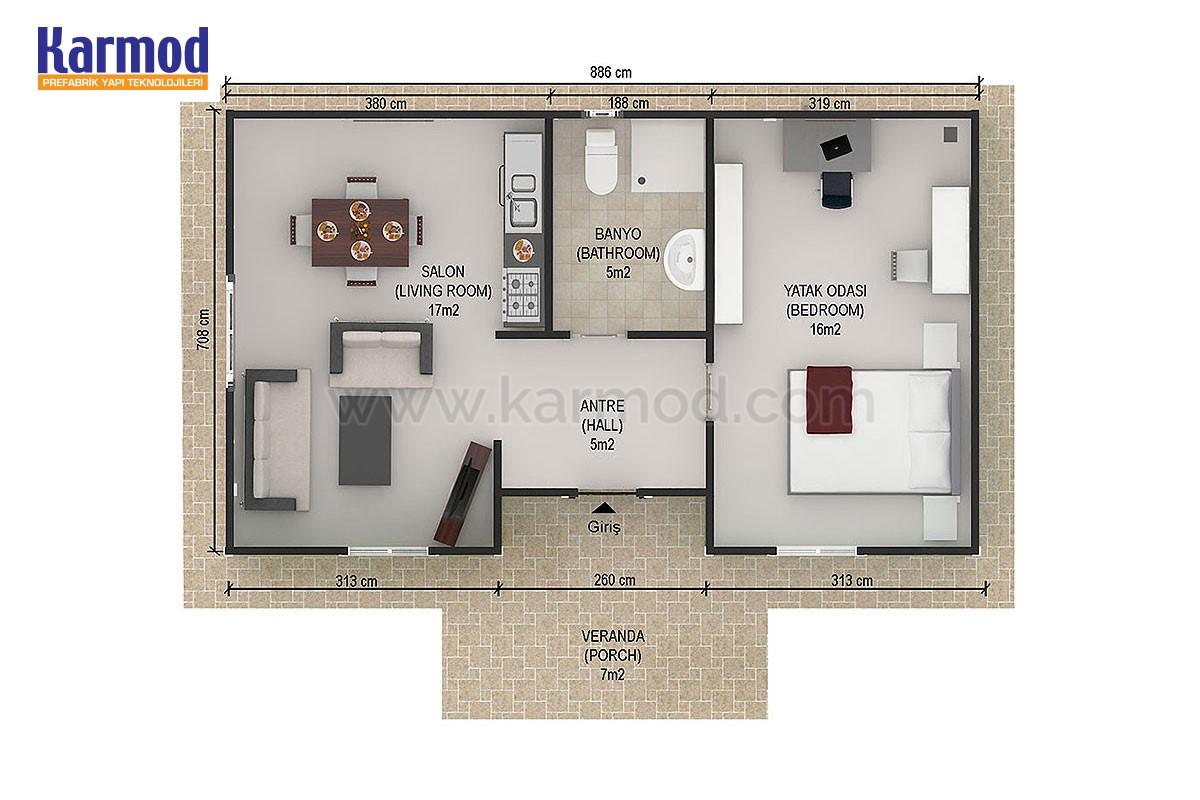 Prefabrik Plan 3D